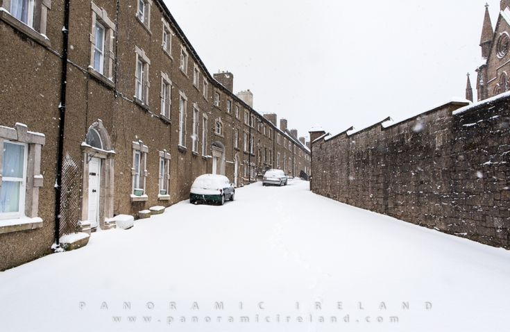 Snow in Vicar's Hill, Armagh, Ireland March 2018 brought by Storm Emma and Beast from the East #stormemma #ireland #winter #snow #beastfromtheeast #architecture #georgian #travel #irish #northernireland