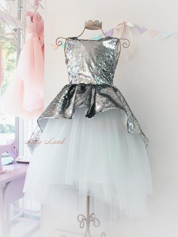 155b01685378 Girl dress silver white tutu dress girls tutu dress baby tutu dress ...