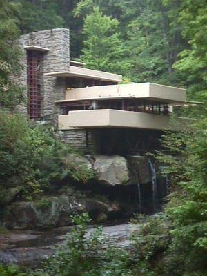 Frank Lloyd Wright's Falling Waters outside Pittsburgh, PA