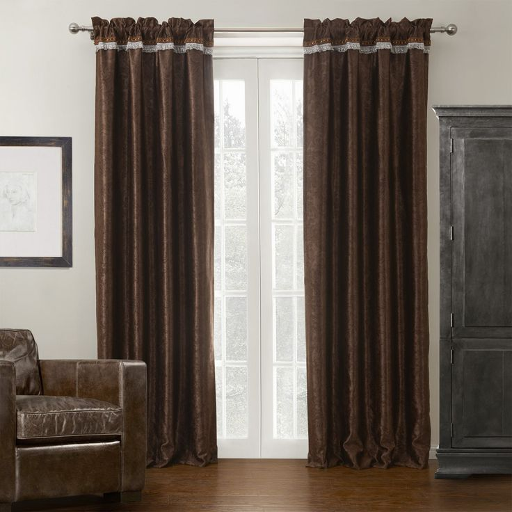 Abstract Leaf Neoclassical Blackout Curtain  #curtains #decor #homedecor #homeinterior #brown