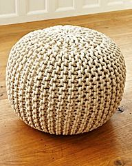 Knitted Pouffe Medium