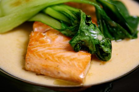 Salmon with Thai Red Curry and Bok Choy Recipe on Yummly