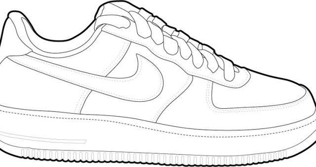 air force 1 sketch