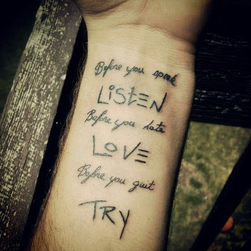25+ Best Ideas About Best Quote Tattoos On Pinterest