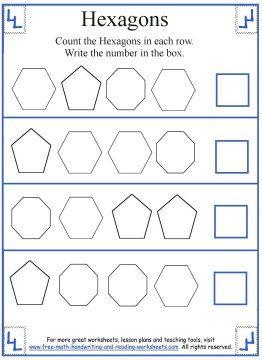 Hexagon Worksheets For Kindergarten