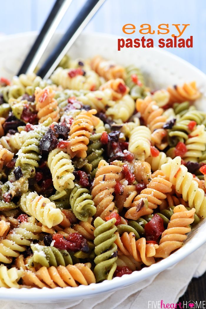 Easy Pasta Salad Tri Color Garden Rotini Is Studded With