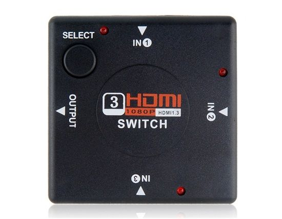 3 In 1 Out HDMI Switch. Save the hassle of constantly connecting and disconnecting your HDMI blu ray players, setup boxes, xBox and Playstation Buy now at http://www.e1hdmicables.com/pd--p-594984-a-0-ex-0-pn-Vga-To-Hdmi-Converter-One-to-Three-Square-HDMI-Converter-(Black)-Discount-Online-Shopping.html
