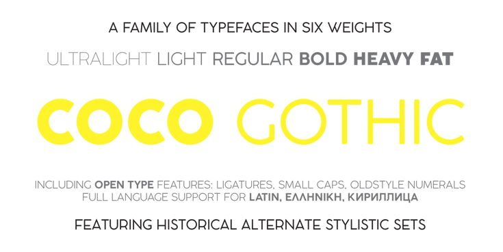 Coco Gothic Typeface by zetafonts - the fonts foundry