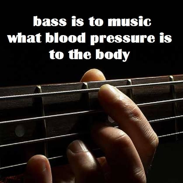 Bass is to music what blood pressure is to the body.