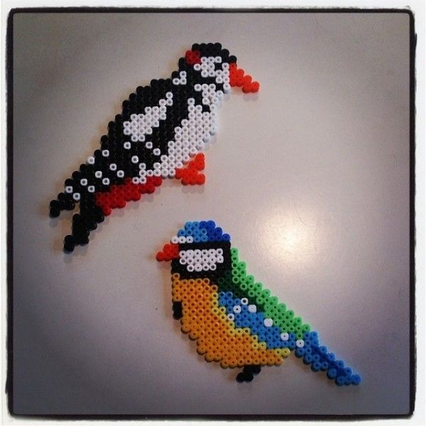 Birds hama perler beads by schack_design by paige