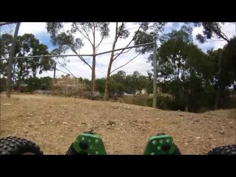 FPV RC Buggy with HD CONTOUR Vs BMX Motorcross Track - FAIL