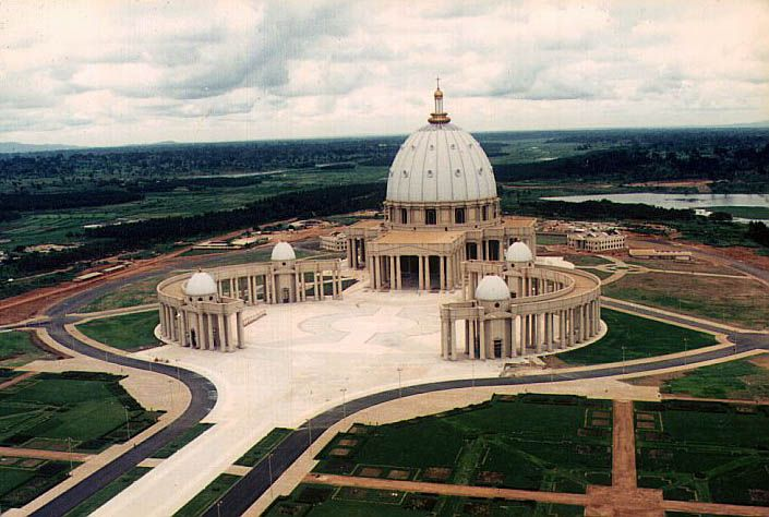 The world's largest church Basilica of Our Lady of Peace of Yamoussoukro, Ivory Coast