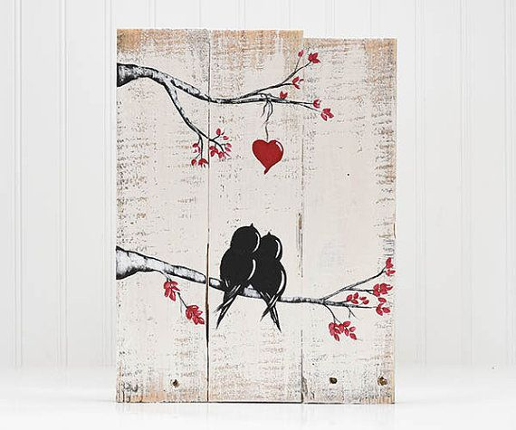 Valentines Gift Wood Signs You and Me by LindaFehlenGallery