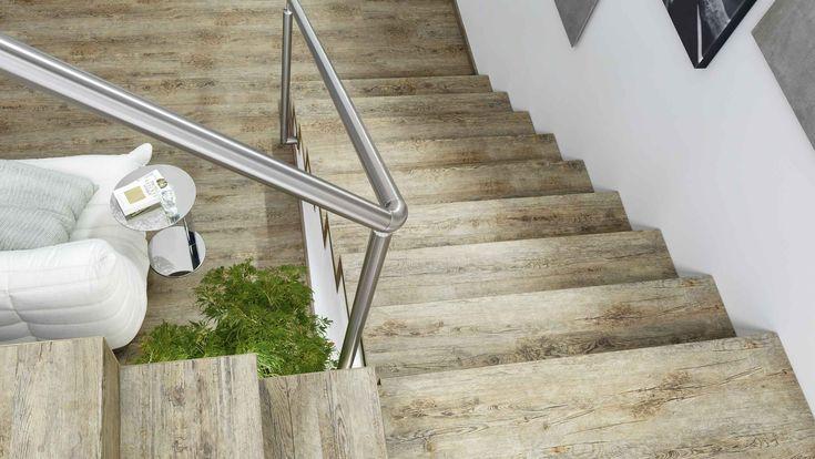 Treppenstufen renovieren bei HolzLand Beese mit Vinyl von Tilo