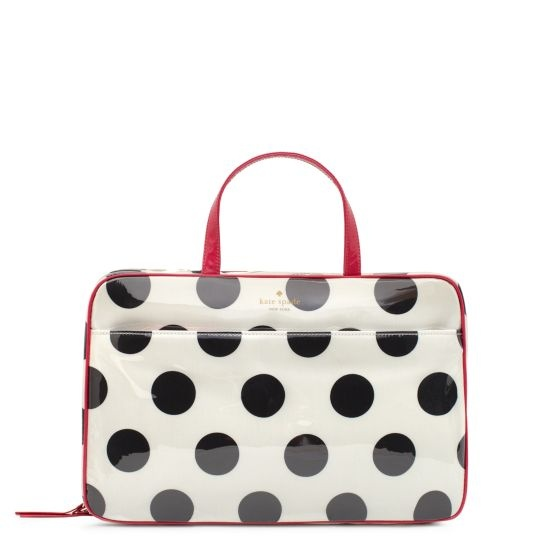 Kate Spade Cosmetic Bag - this is the best makeup bag. It has great pockets. Perfect size for all toiletries and cosmetics too!