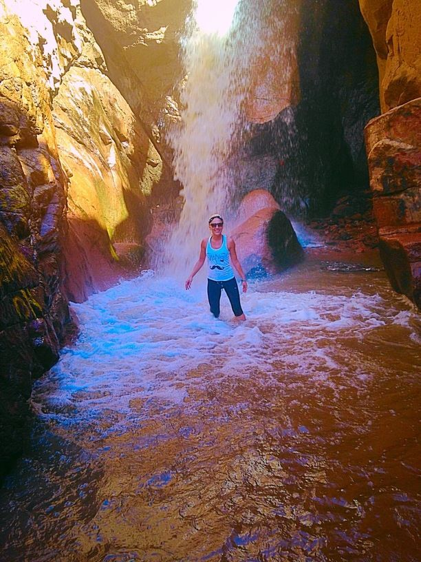 Rainbow Falls, Manitou Springs, Colorado — by Monika Christopherson. Rainbow Falls otherwise known as Graffiti Falls to the locals #hiking