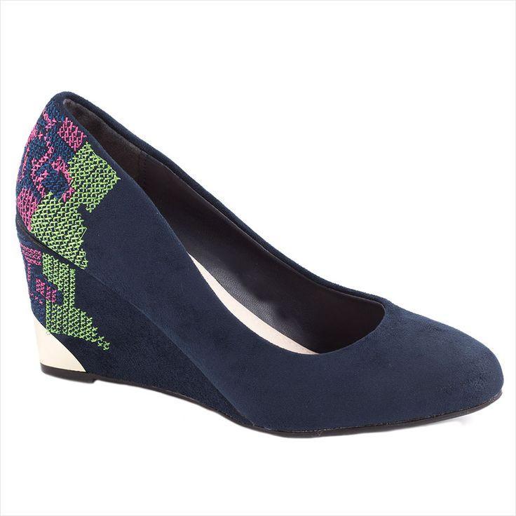 Pantofi de dama cu broderie C1-7B - Reducere 50% - Zibra