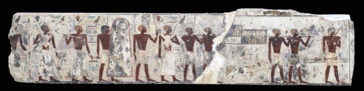Relief de la tombe du nomarque Djehoutyhotep II. Procession de porteurs d'offrandes ©Londres, The British Museum