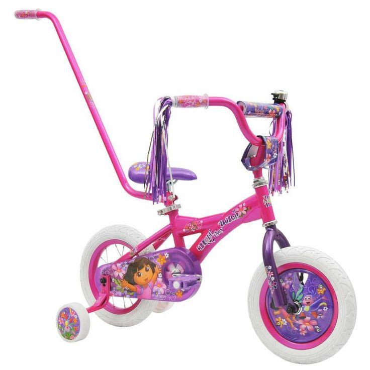 The Dora the Explorer 30cm Bike features a colourful Dora the explorer design…