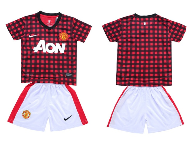 Manchester United Blank Red Home Kid Soccer Club Jersey
