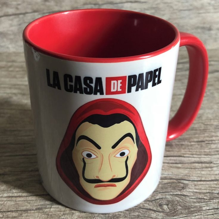 Red Mug La Casa Paper Netflix Series – Mod.12 at Elo7 | Dasde Artes – Table Decor (E12B5A)