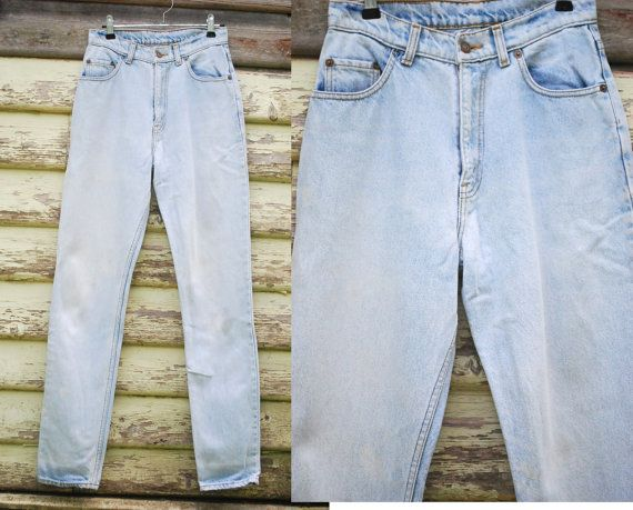 90s Vintage Faded Blue Denim Levis Jeans Levi Strauss Straight Leg Grunge Normcore Trousers Vtg 1990s Pants Size S-M