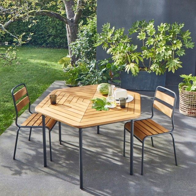 Table De Jardin Hexagonale Acacia Fsc Kajlaw Table De Jardin
