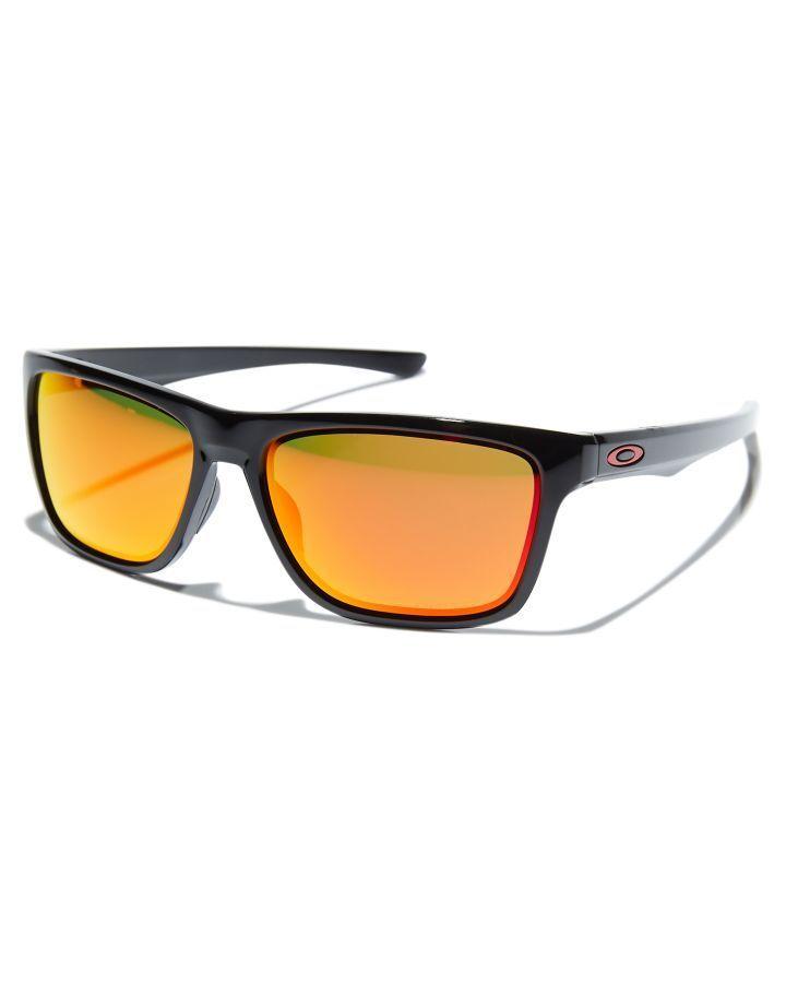 09d74ecc85 Oakley Holston Polarized Sunglasses Polished Black Ruby Mens sunglasses Size