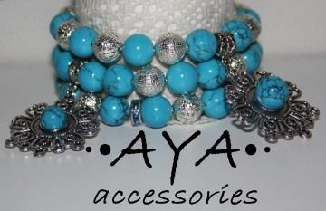 """A set of bracelets """"Just Gorgeous"""" by AYASHOP for $45.00"""