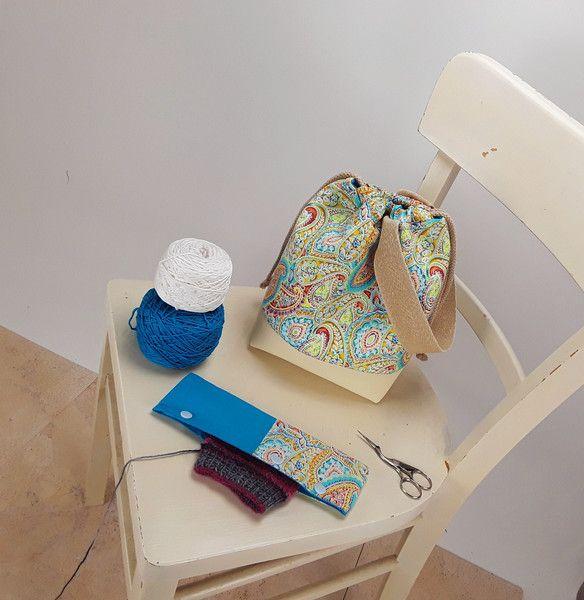 Universaltäschchen - Projekttasche Fieldbag Größe S mit Nadelhalter  - ein Designerstück von Kaepseles bei DaWanda
