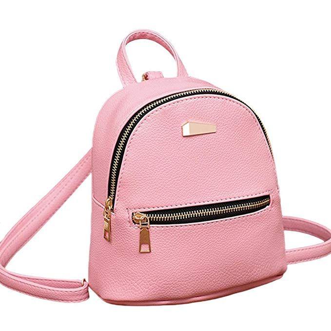 337433a3b321 Rakkiss Women Leather Backpack Shoulder Satchel Travel Bag School ...