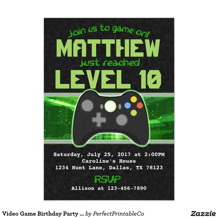 31 best Manny\'s Party images on Pinterest | Video game party ...