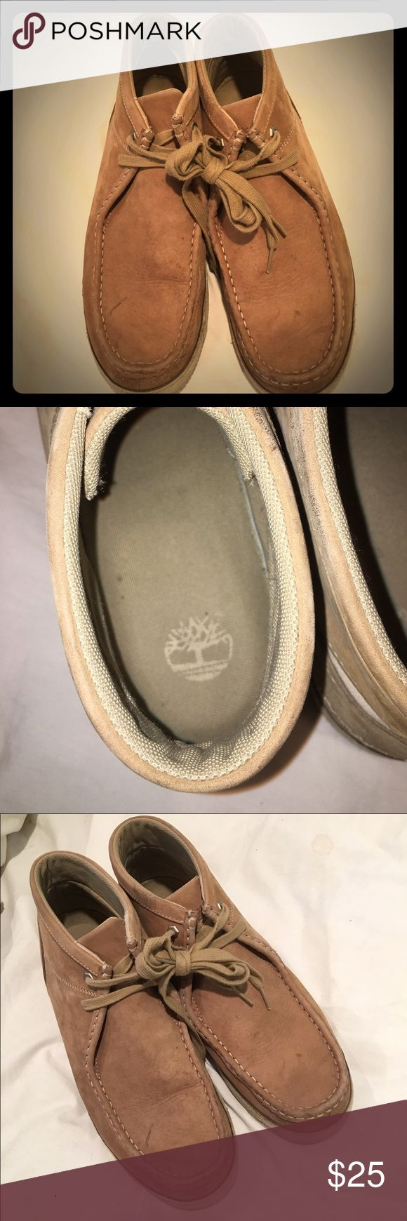 Timberland Beige Suede Ridgefield Wallaby Chukka These boots have are pre-loved but are on great condition, nothing really wrong with them. Size 12M, great ankle boots! Timberland Shoes Chukka Boots