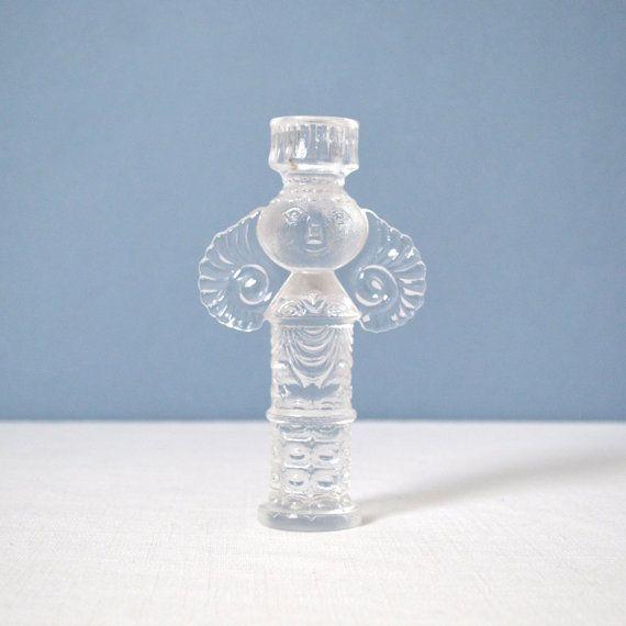Vintage Bertil Vallien for Kosta Boda Crystal by MidModMomStore