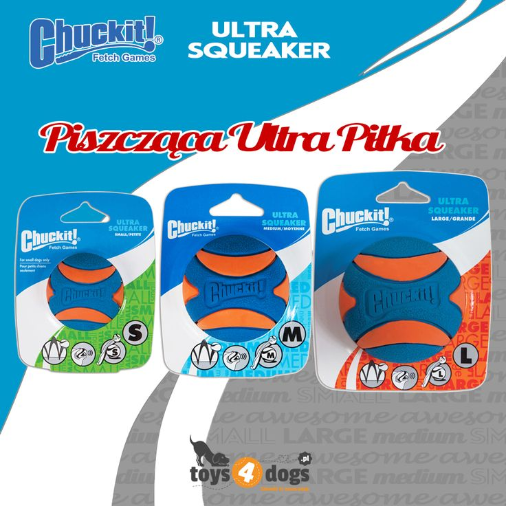 Piszcząca Ultra Piłka #chuckit #piłkadlapsa #toys4dogs
