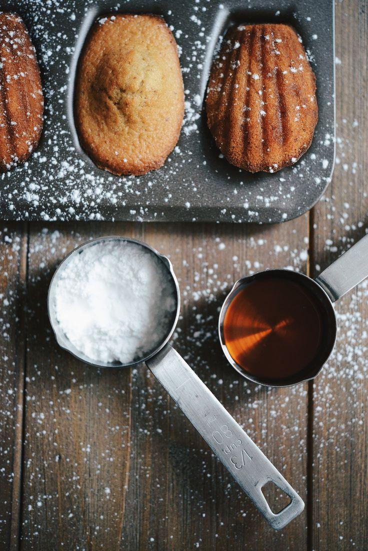 Madeleines gingembre érable (sans gluten sans lactose)