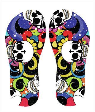 Comprar Chinelo Personalizado Color Skull em Rua7Design