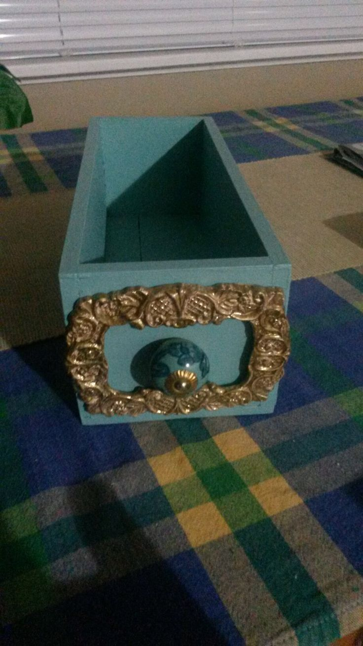 A few embellishments & paint can change a wooden box
