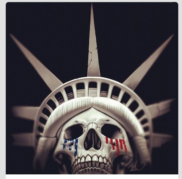statue of liberty skull face ink pinterest statue of