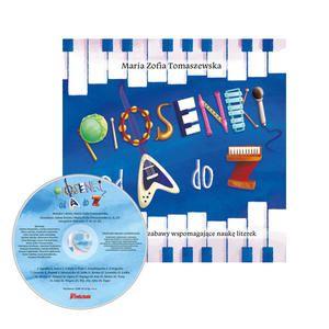 Piosenki od A do Z. Piosenki i zabawy wspomagające naukę literek - książka + CD - Wydawnictwo BLIŻEJ PRZEDSZKOLA