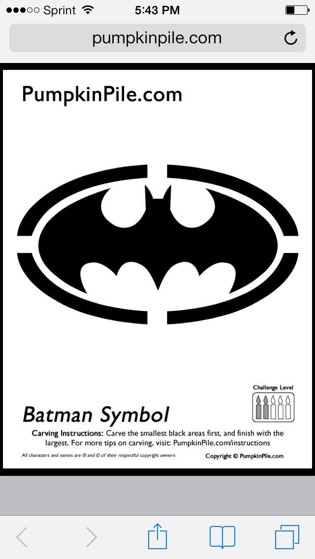 Batman symbol pumpkin stencil