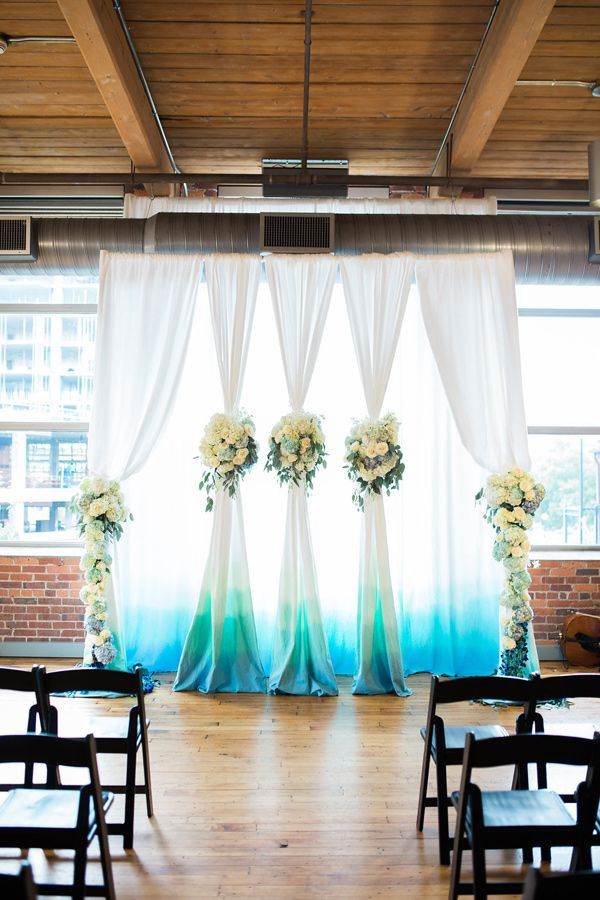 ceremony backdrop - photo by Casto Photography http://ruffledblog.com/high-tide-inspired-wedding-in-greenville