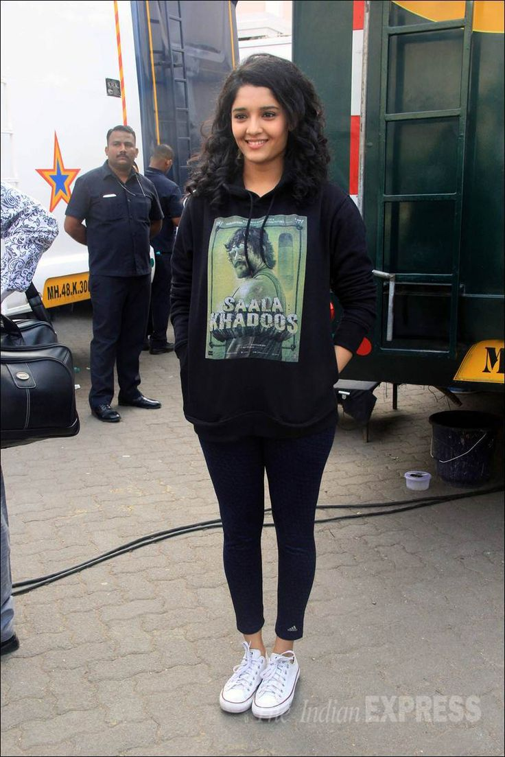 Ritika Singh at a #SaalaKhadoos event at Mehboob Studios. #Bollywood #Fashion #Style #Beauty