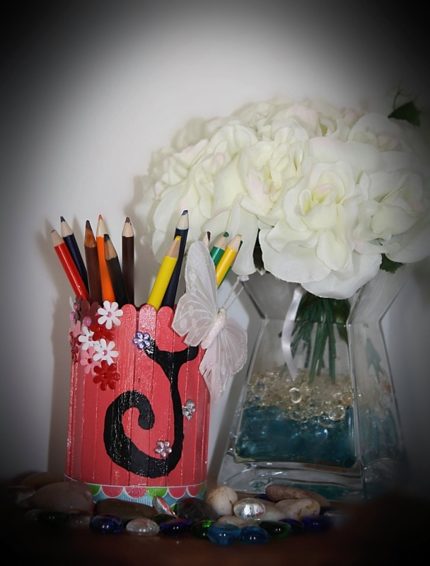 Use instead of building more trash. Corn Can made into a pencil holder