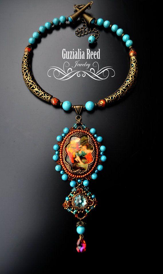 Vintage Renaissance Cameo Necklace от GuzialiaReedJewelry на Etsy