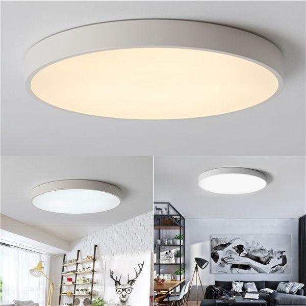Partia Flushmount 17 Wide White Led Ceiling Light 1c050