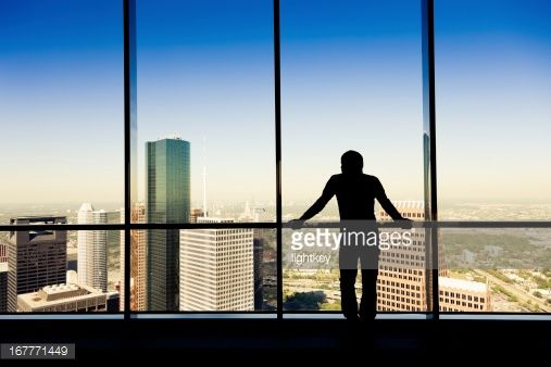 Stock Photo : Working man looking the city
