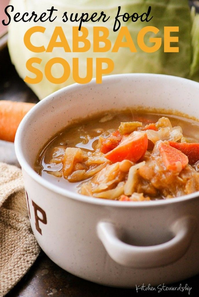 This cabbage soup is packed with nutrients including one powerhouse that you'd never guess. Grab a big pot. It's soup night!