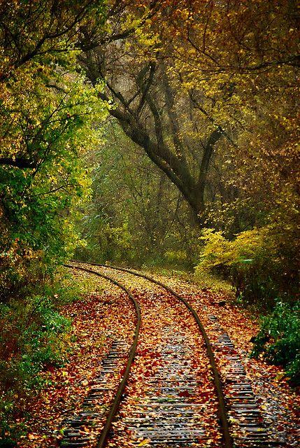 El otoño nos puede ofrecer estos paisajes, este concretamente es en Pennsylvania, USA