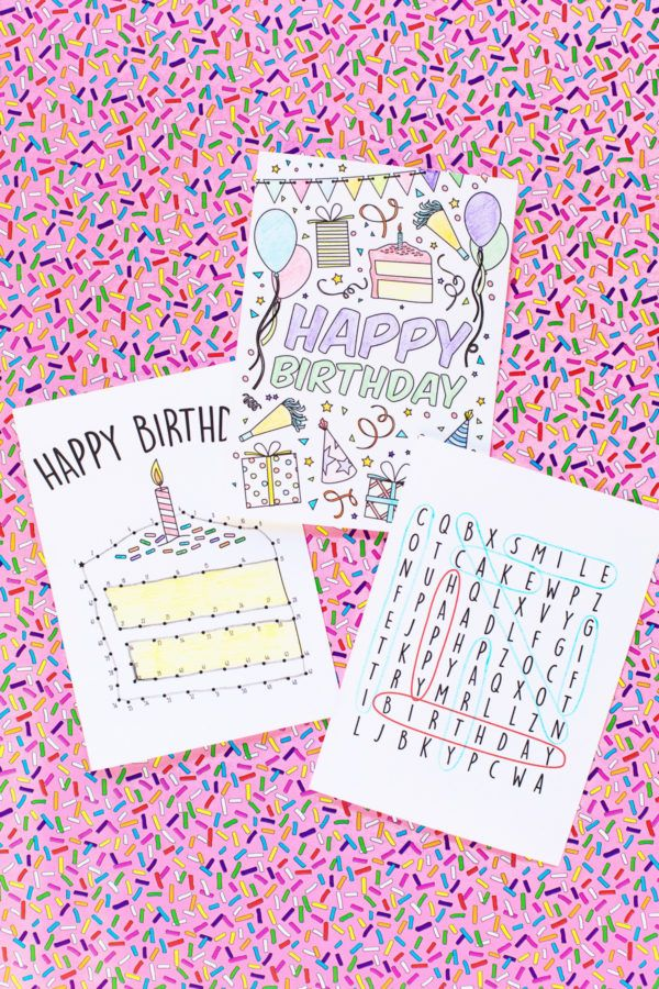 Free Printable Birthday Cards For Kids Free Printable Birthday Cards Coloring Birthday Cards Birthday Cards For Mom